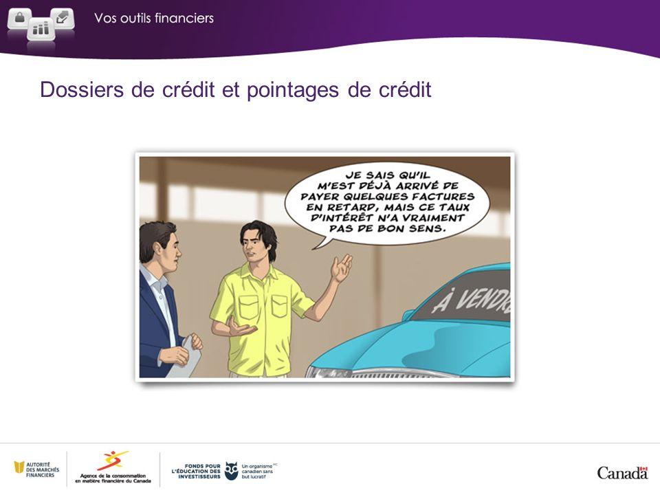 Dossiers de crédit et pointages de crédit