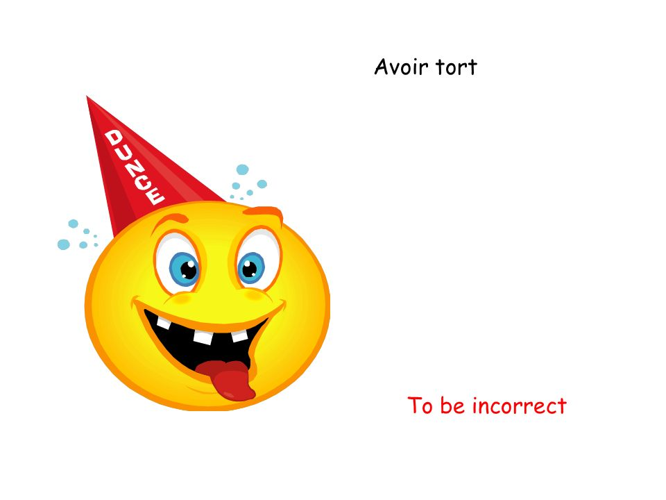Avoir tort To be incorrect