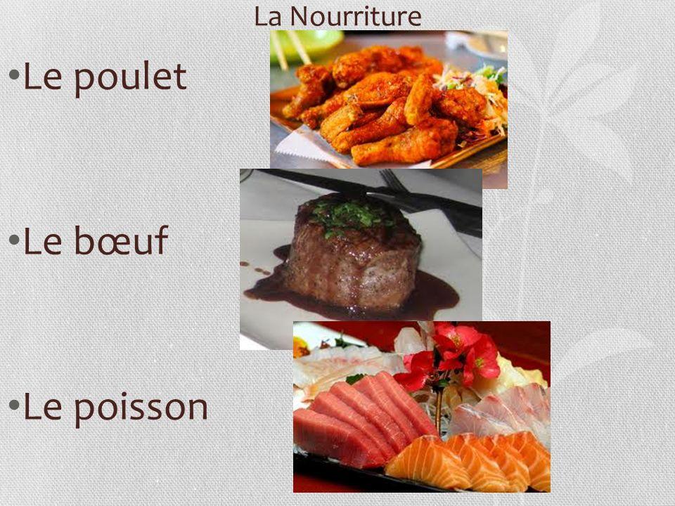 La Nourriture Le poulet Le bœuf Le poisson