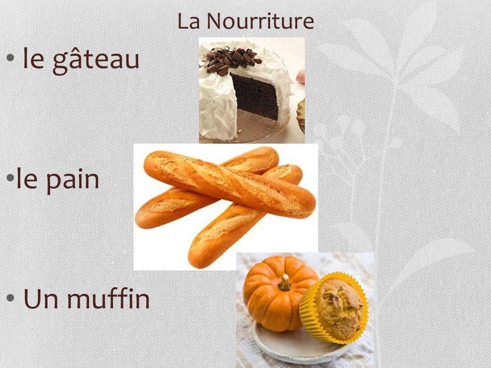 La Nourriture le gâteau le pain Un muffin