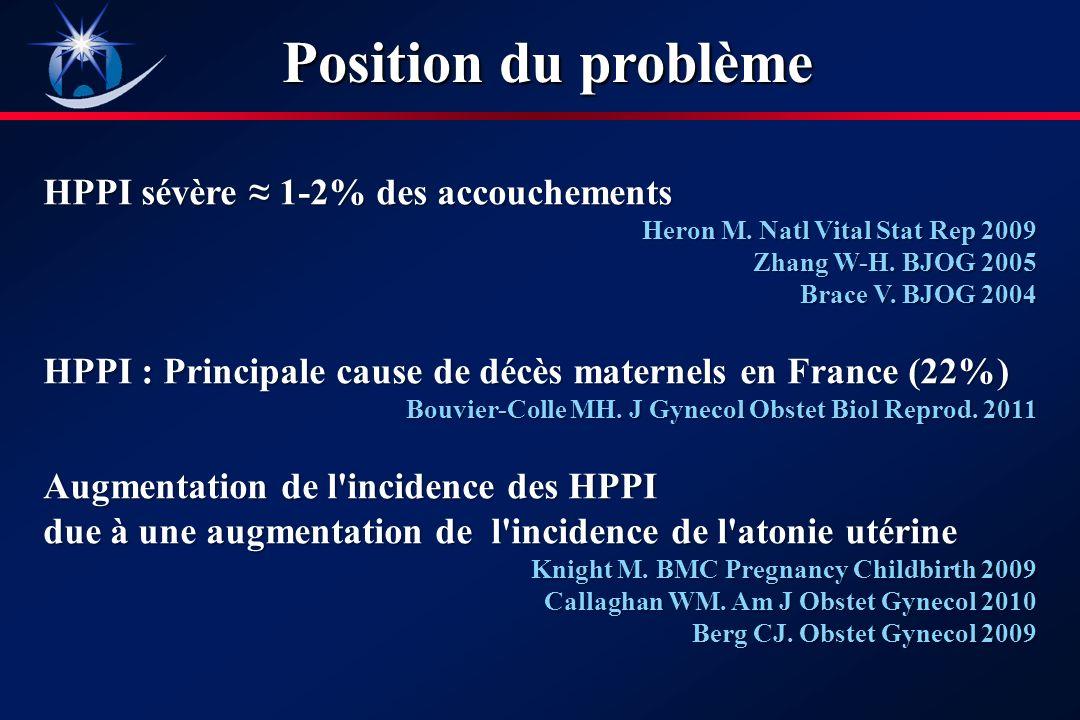 Position du problème HPPI sévère 1-2% des accouchements Heron M.