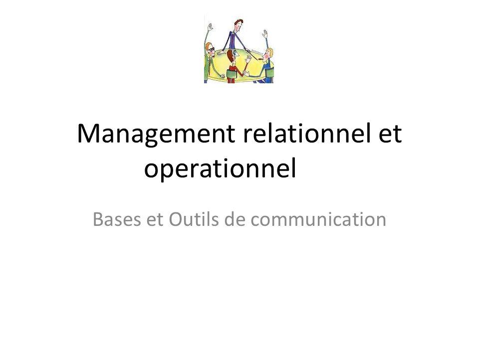 Management relationnel et operationnel Bases et Outils de communication