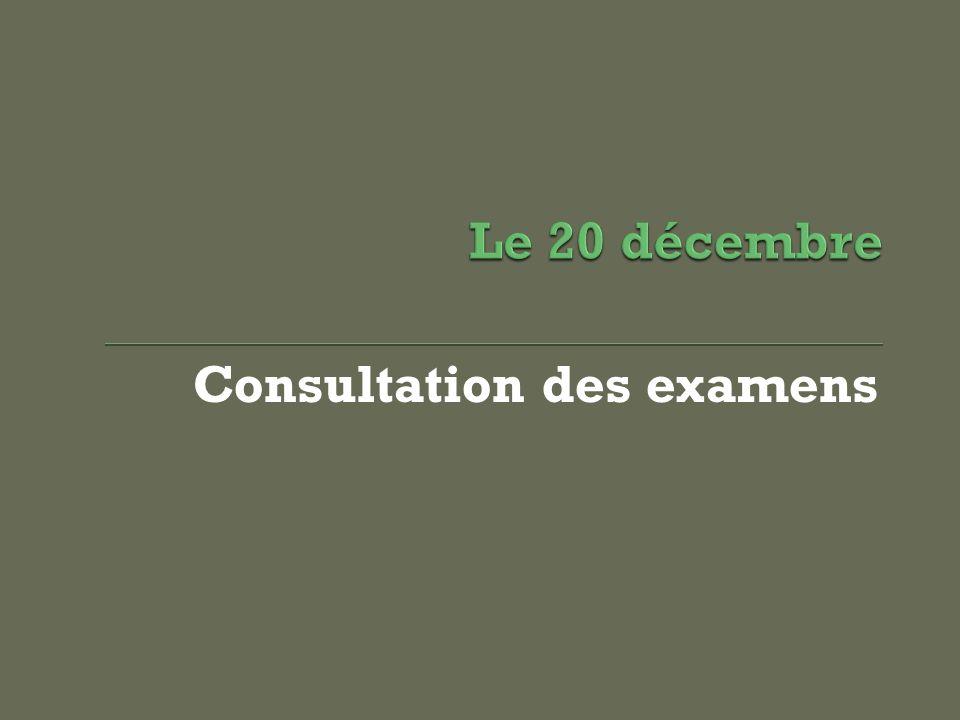 Consultation des examens