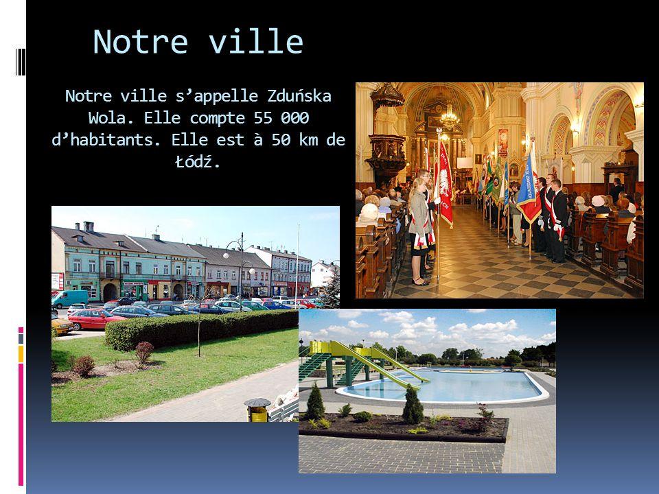 Notre ville Notre ville sappelle Zduńska Wola.Elle compte 55 000 dhabitants.