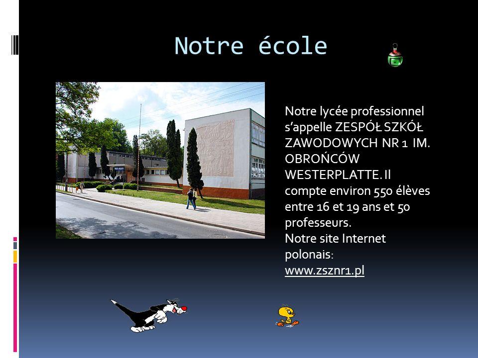 Notre école Notre lycée professionnel sappelle ZESPÓŁ SZKÓŁ ZAWODOWYCH NR 1 IM.