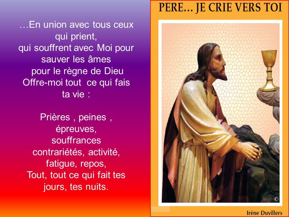 Il te suffit alors daccepter chaque jour quil test accordé de vivre… de laccepter tel quil est…tel que la Divine Providence te loffre… et de tunir, en