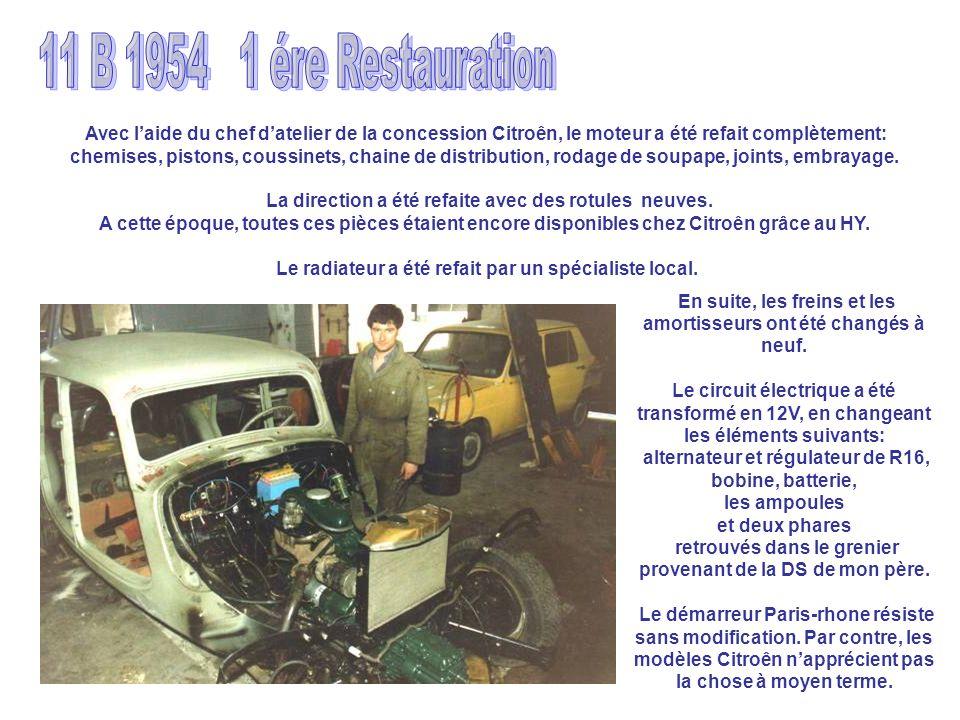 Avec laide du chef datelier de la concession Citroên, le moteur a été refait complètement: chemises, pistons, coussinets, chaine de distribution, roda