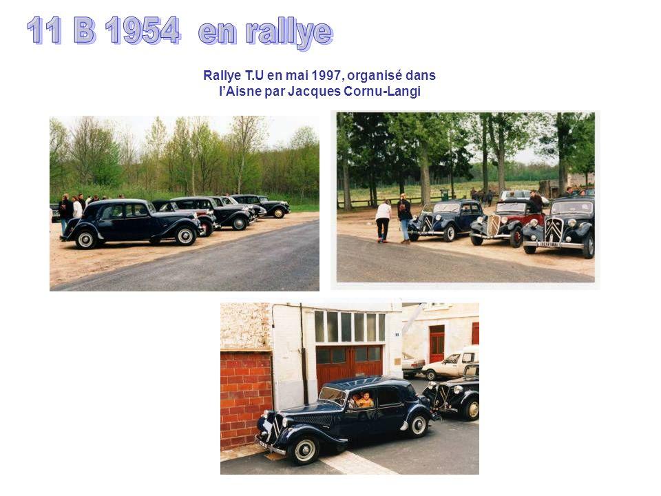 Rallye T.U en mai 1997, organisé dans lAisne par Jacques Cornu-Langi