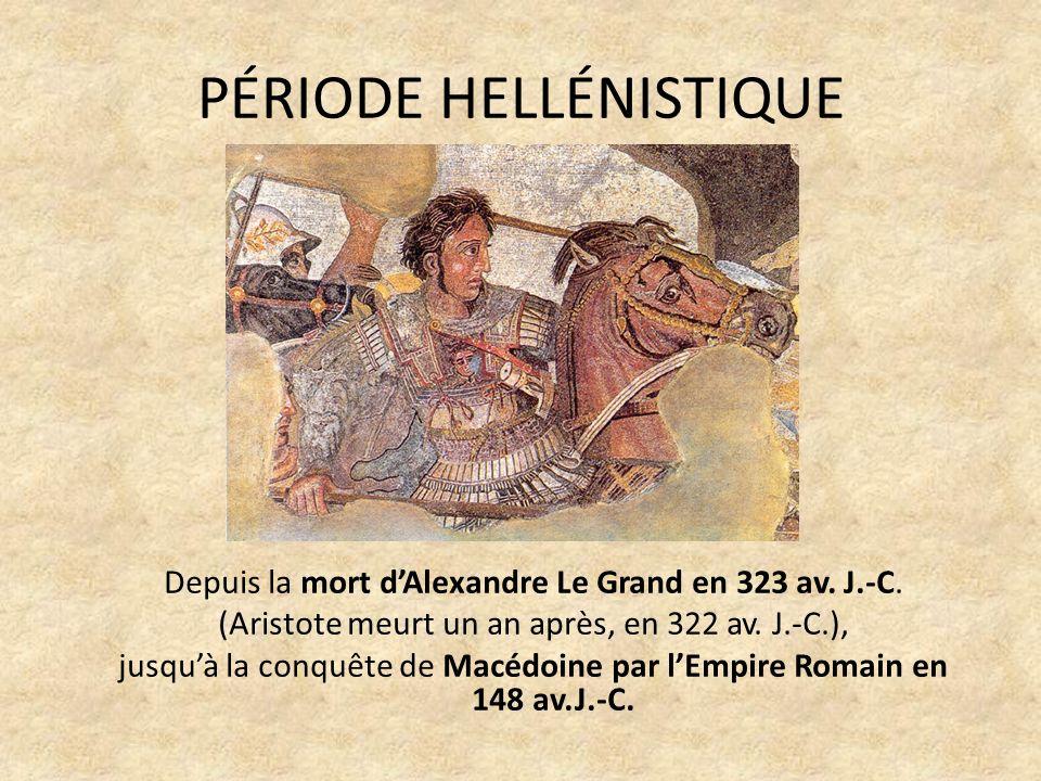 PÉRIODE HELLÉNISTIQUE Depuis la mort dAlexandre Le Grand en 323 av.