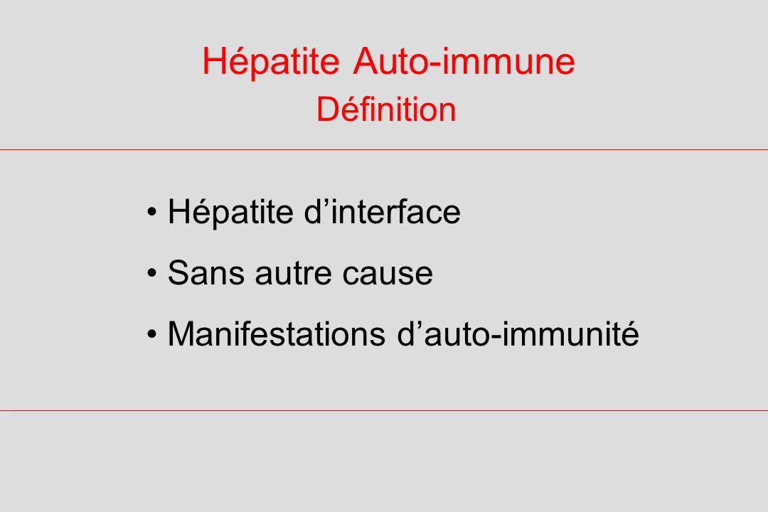 Hépatite Auto-immune Diagnostic Traitement