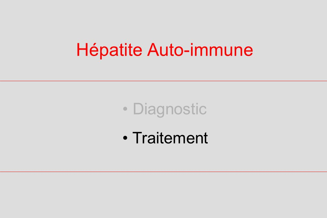 Hépatite Auto-immune Diagnostic Traitement