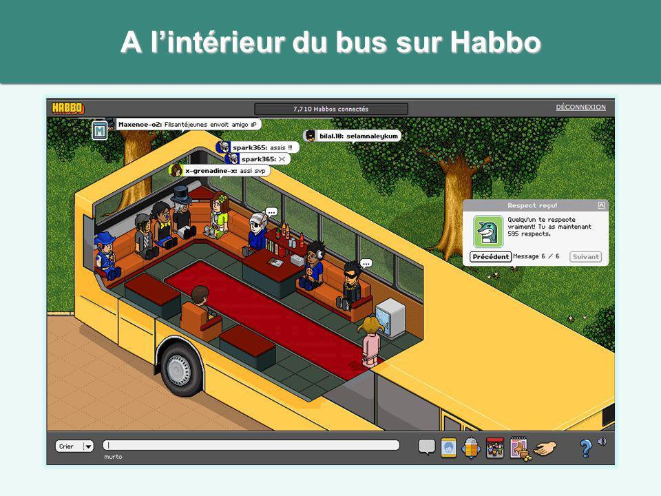 A lintérieur du bus sur Habbo