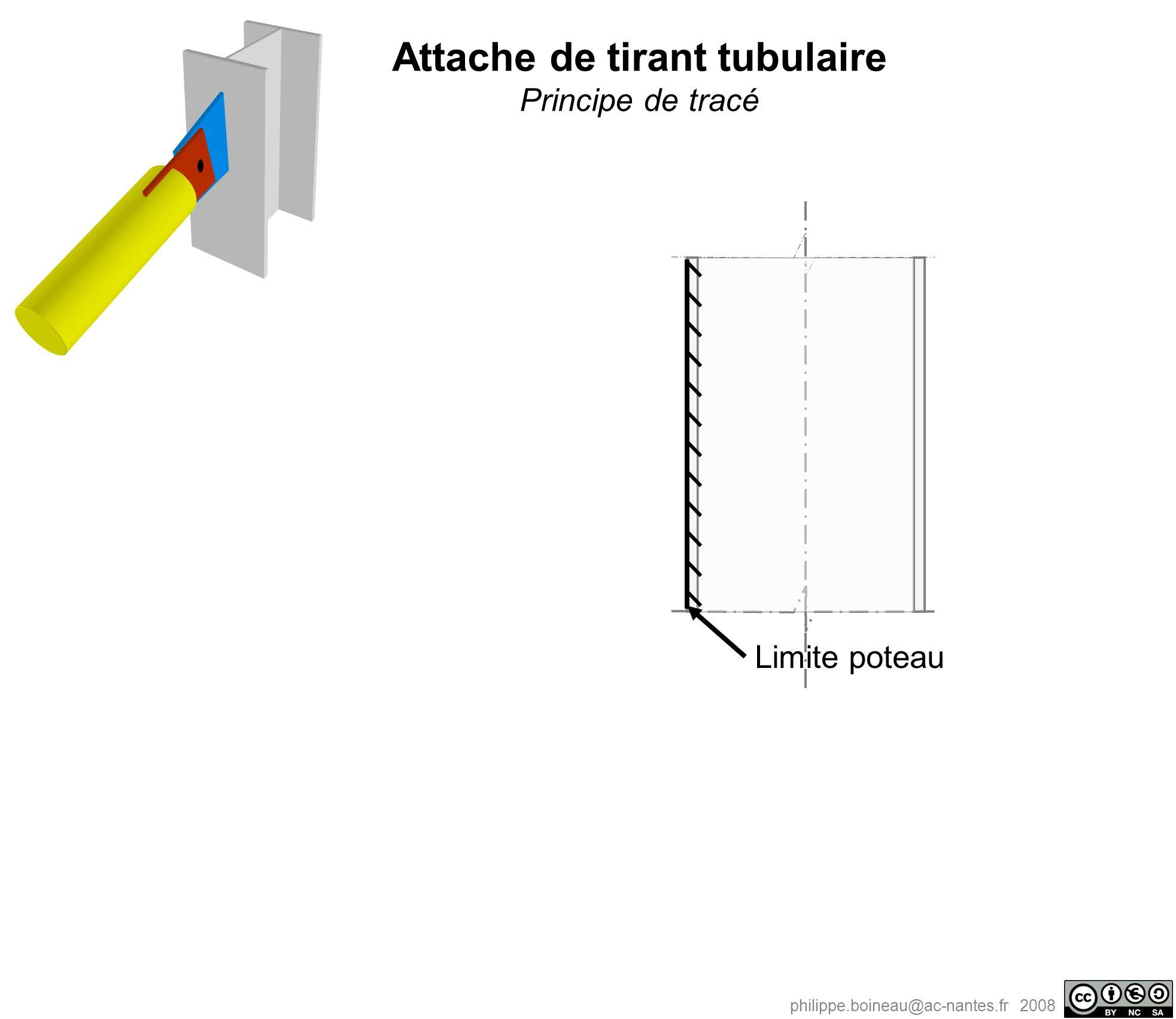 philippe.boineau@ac-nantes.fr 2008 Attache de tirant tubulaire Principe de tracé Limite poteau