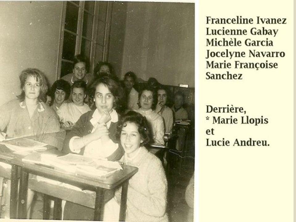 Dans notre salle de classe. Notre surveillante était Melle Lacan. Une adorable jeune femme que nous aimions beaucoup. Il y avait deux autres surveilla