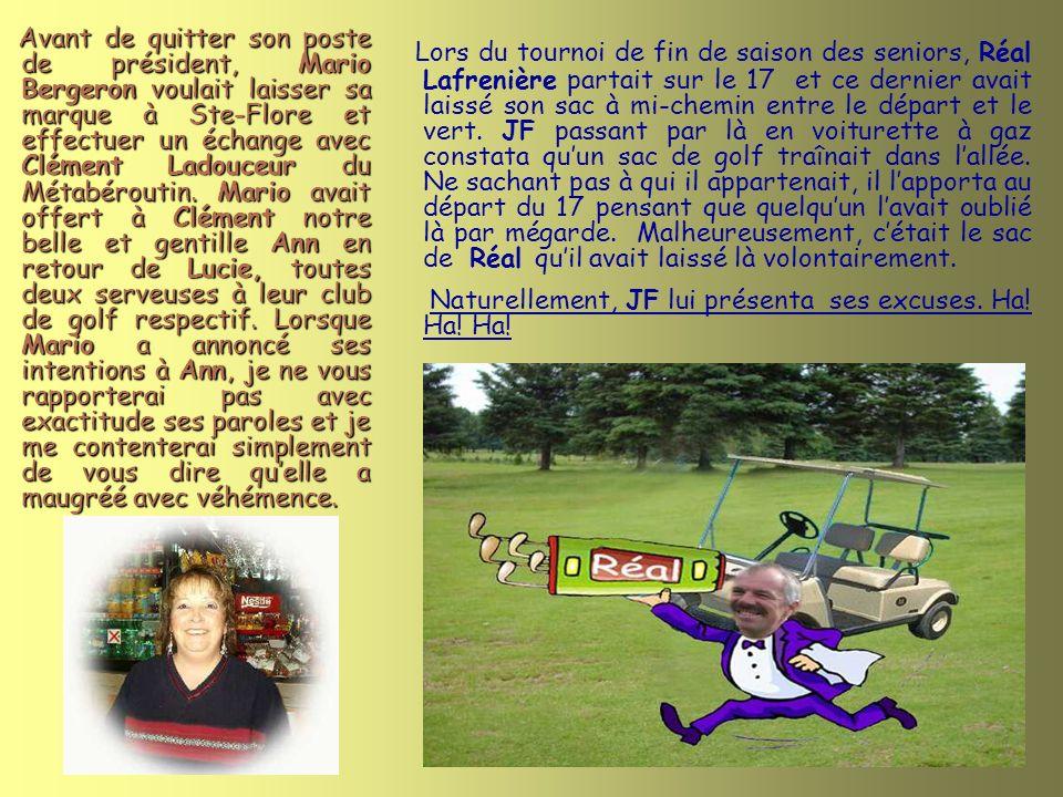 Comme vous pouvez le constater par ces photos prises en 1998, Mario et Yvon (bien jeunes tous les deux) étaient déjà membres du comité de golf à cette