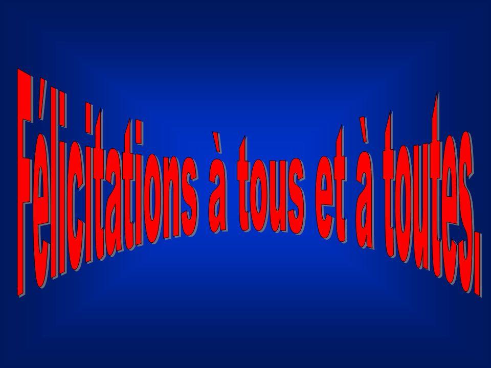 Micheline Bousquet 91 Richard Hamelin 70 Maurice Bundock 80 Sylvie Dontigny 82 Marie France Morand 75 Michel Rocheleau 74 Louis Dellow 74 Paul Bousque