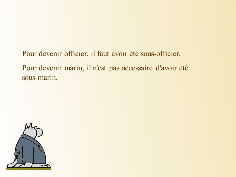 Pour devenir officier, il faut avoir été sous-officier.