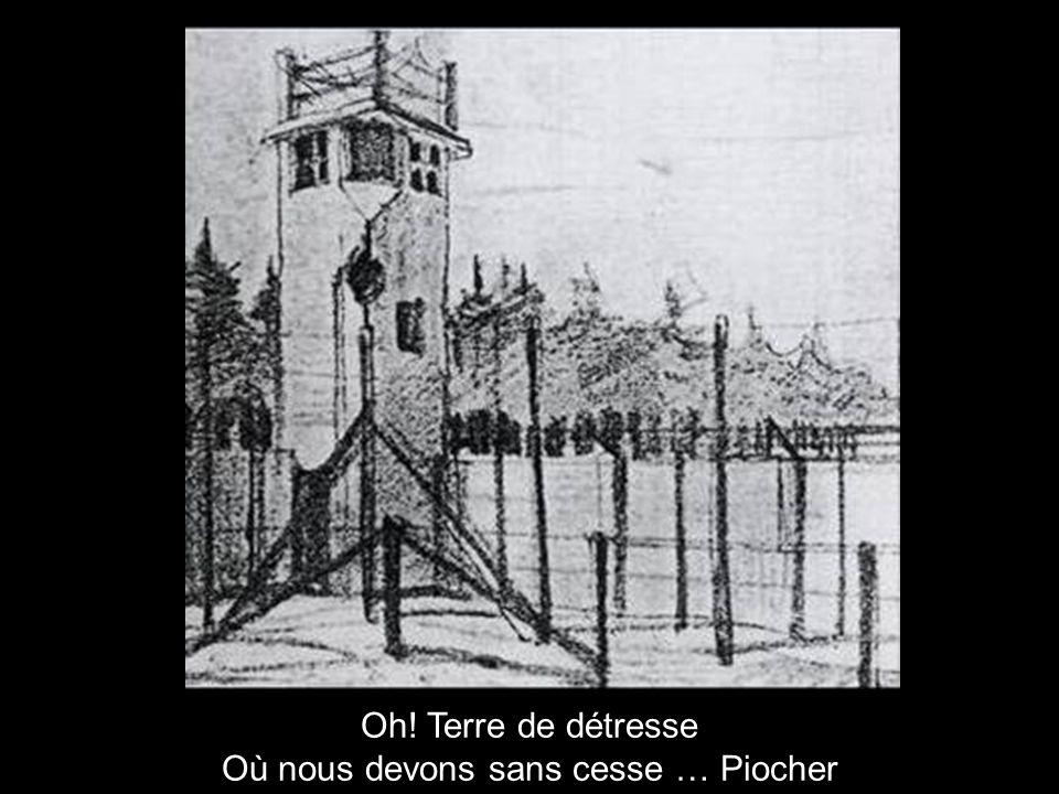 Entrée monumentale du camp de concentration d Esterwegen Et du sang, des cris, des larmes La mort pour celui qui fuit