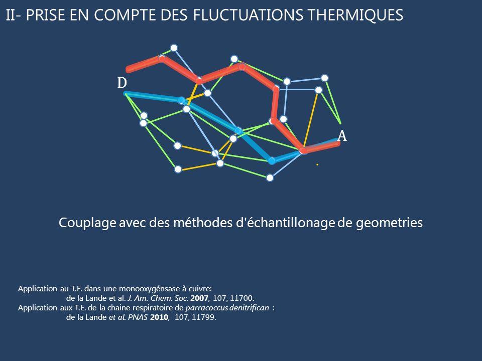 D A D A II- PRISE EN COMPTE DES FLUCTUATIONS THERMIQUES Couplage avec des méthodes d'échantillonage de geometries Application au T.E. dans une monooxy