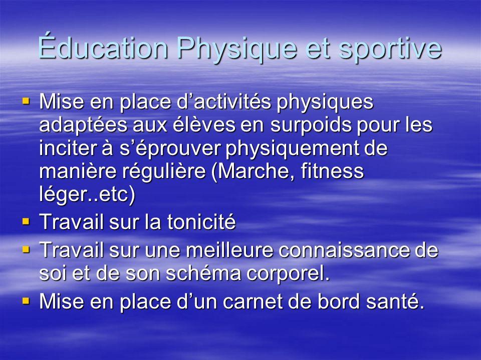 Éducation Physique et sportive Mise en place dactivités physiques adaptées aux élèves en surpoids pour les inciter à séprouver physiquement de manière