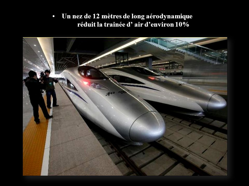 Malgré la vitesse, le train roule sans à coups