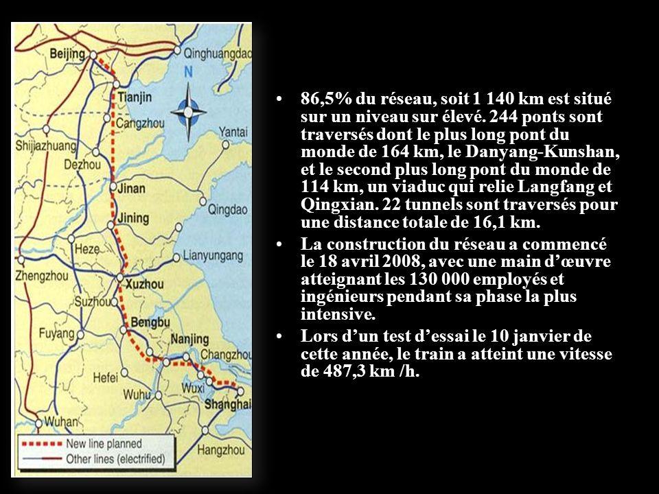 Le trajet seffectue dans une moyenne de 300 km/h Cette ligne a coutée 23 milliards deuros.