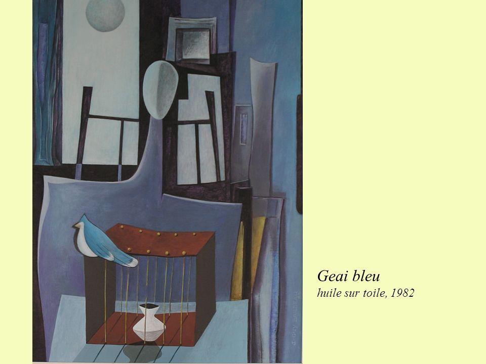 Geai bleu huile sur toile, 1982