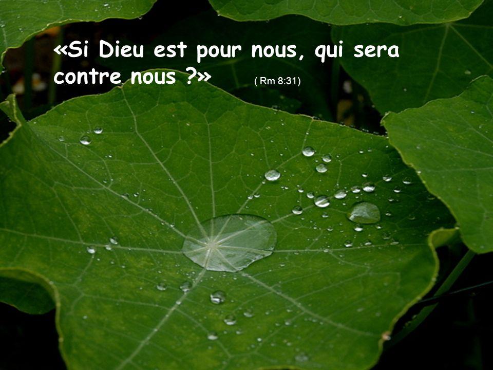 «Si Dieu est pour nous, qui sera contre nous ?» ( Rm 8:31)