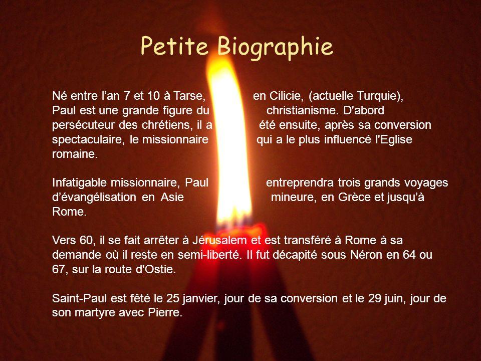 Quelques mots de Paul Paul de Tarse – Place St-Pierre « Je suis Juif.