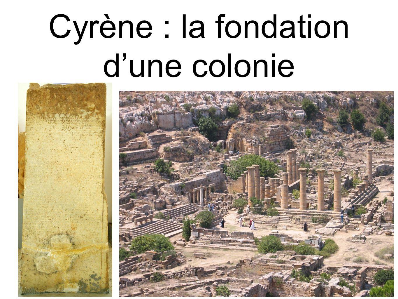Cyrène : la fondation dune colonie