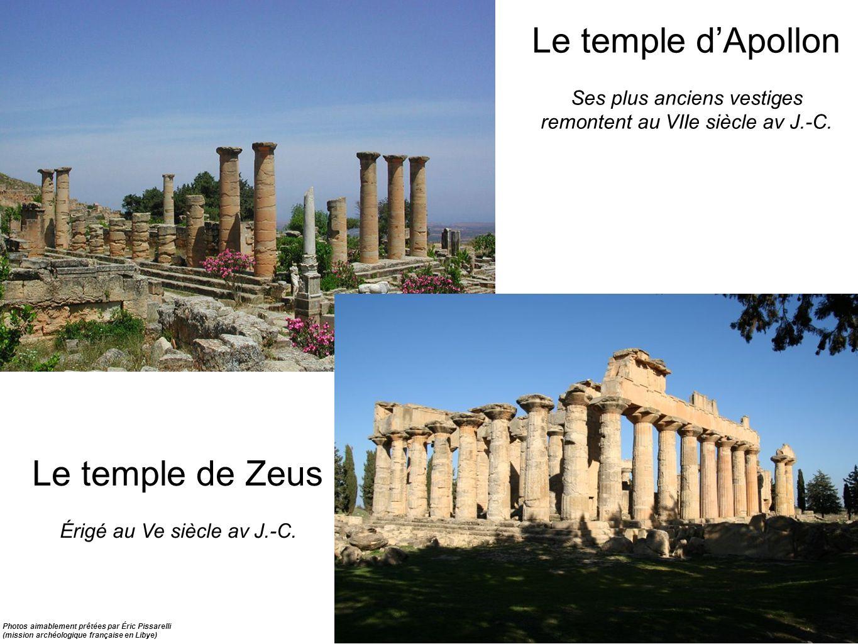 Le temple dApollon Ses plus anciens vestiges remontent au VIIe siècle av J.-C. Le temple de Zeus Érigé au Ve siècle av J.-C. Photos aimablement prêtée