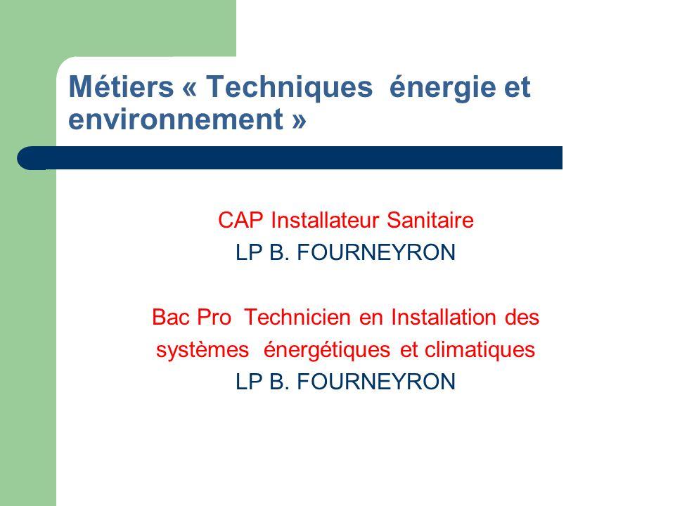 Métiers de la Production mécanique, la Conduite et pilotage de systèmes industriels la Mise en œuvre des matériaux option Textile CAP Serrurier Métallier LP B.