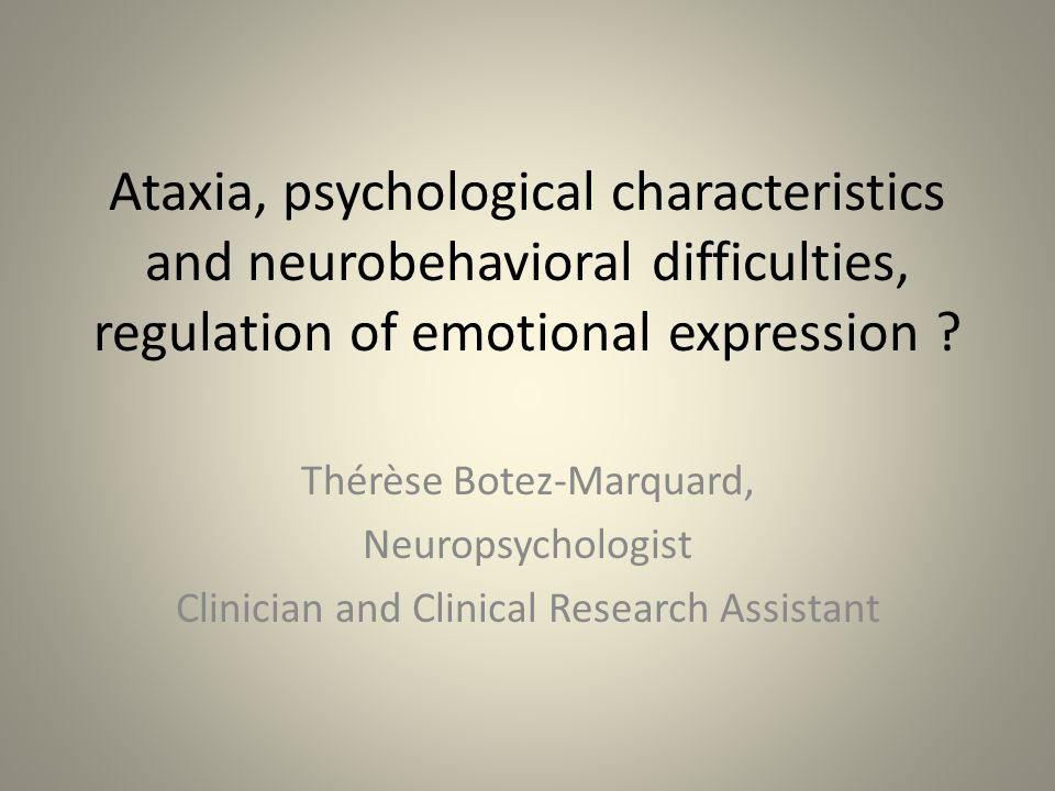 Sommaire 1-Résumé de la littérature scientifique sur la santé psychique quant à la maladie de Friedreich, les SCA2 et le syndrôme Charlevoix-Saguenay (ataxie spastique).
