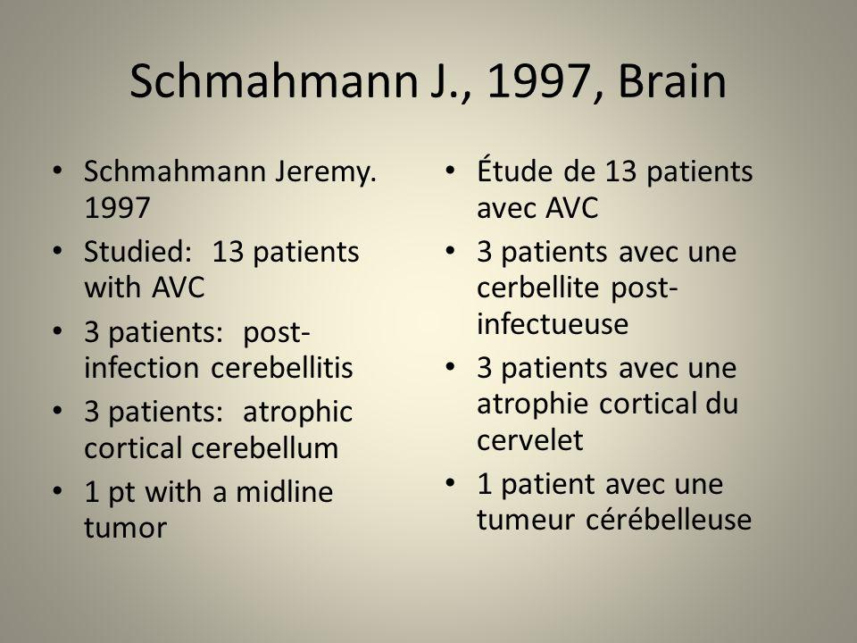 Schmahmann J., 1997, Brain Schmahmann Jeremy.