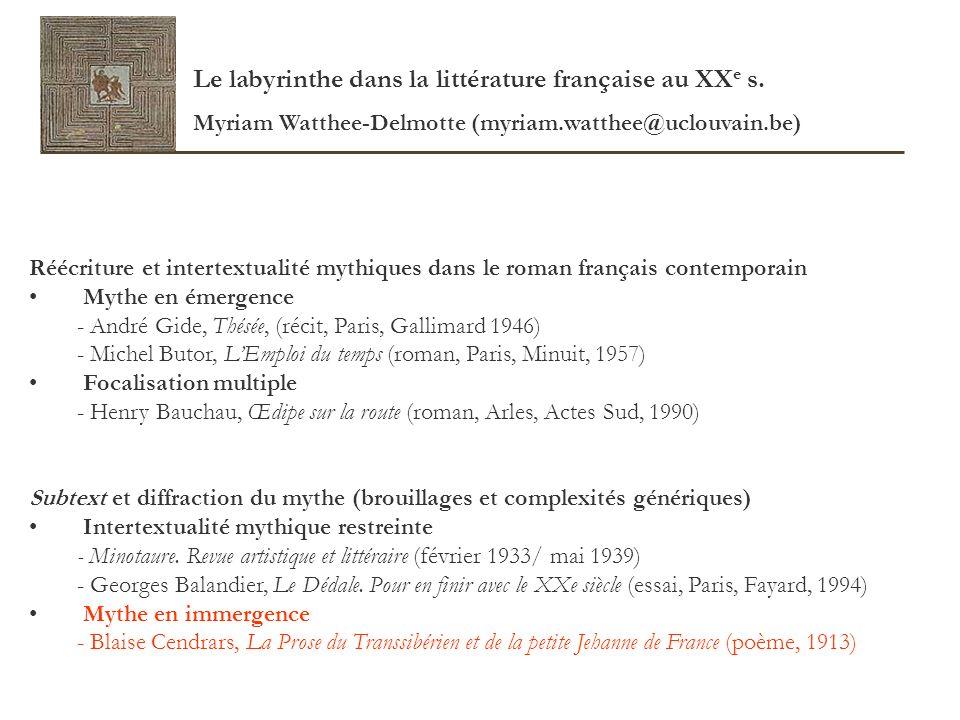 Mythe en immergence Pierre Brunel, Apollinaire entre deux mondes.