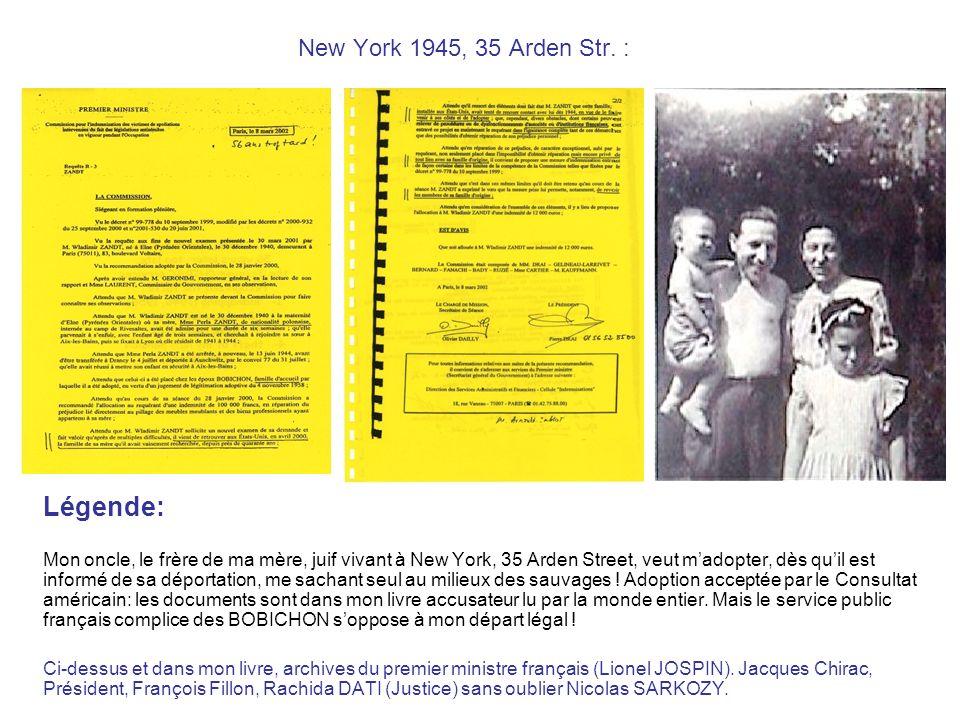 New York 1945, 35 Arden Str.
