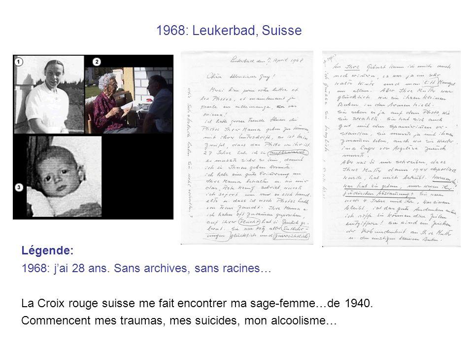 1968: Leukerbad, Suisse Légende: 1968: jai 28 ans.