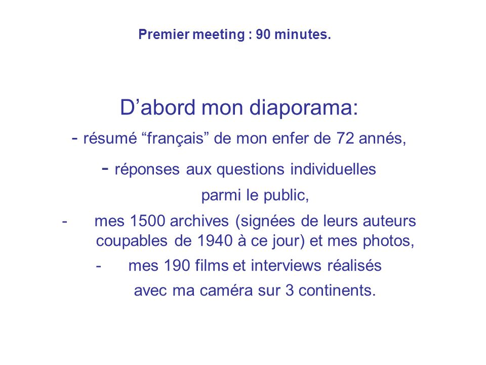 Meeting 2 : 90 minutes.