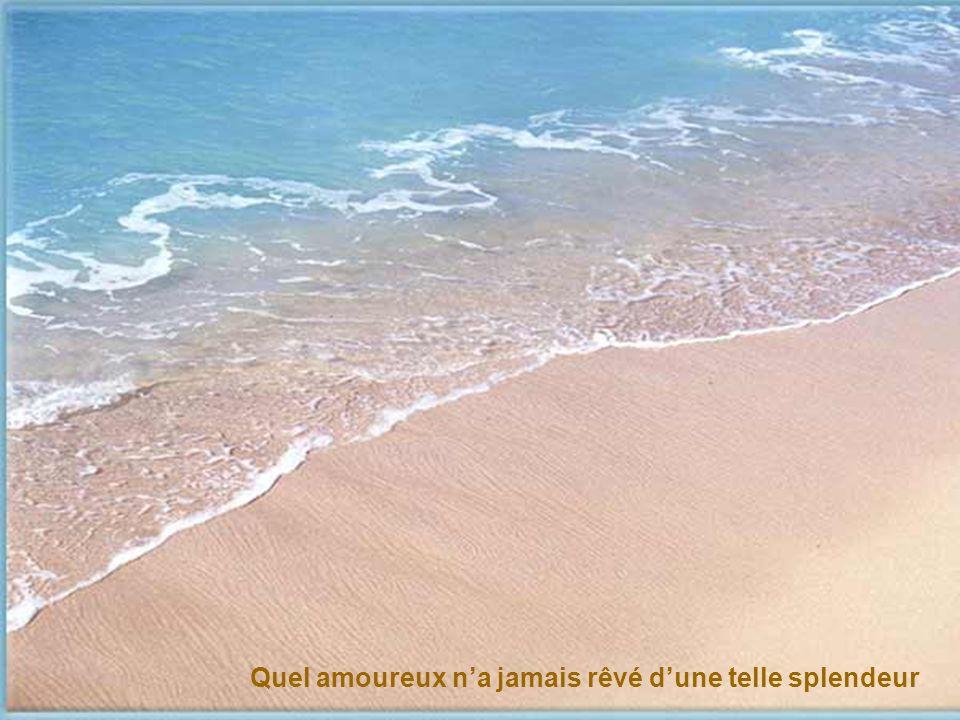 La mer turquoise de toute beauté