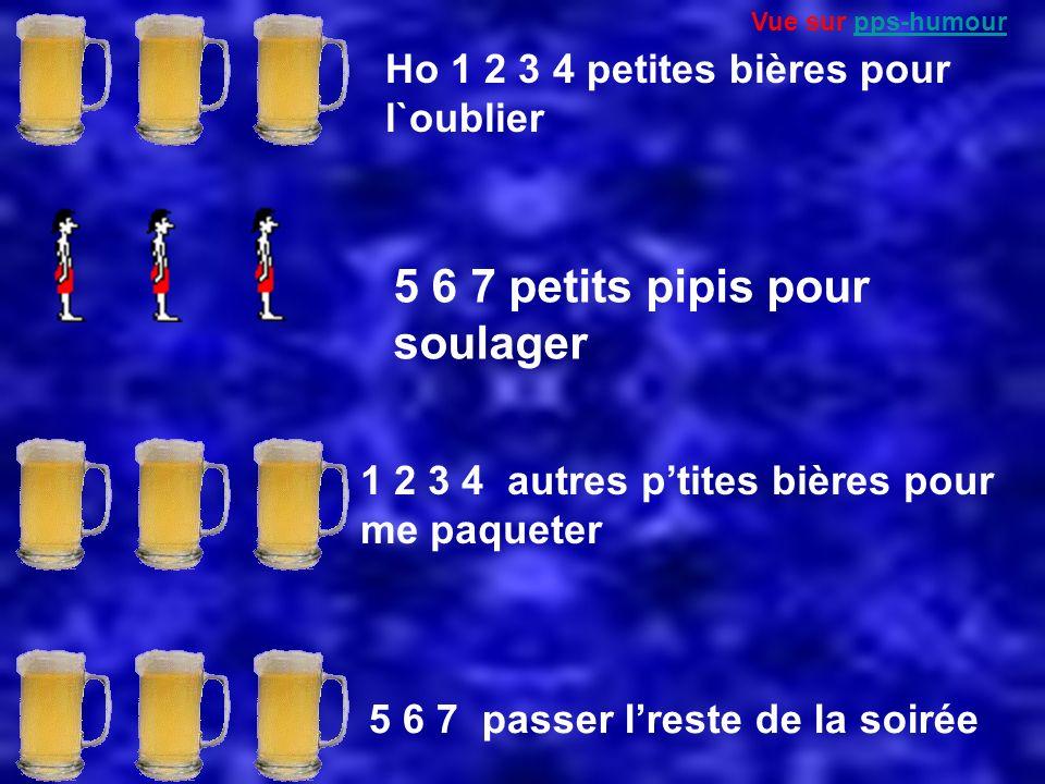 Ho 1 2 3 4 petites bières pour l`oublier 5 6 7 petits pipis pour soulager 1 2 3 4 autres ptites bières pour me paqueter 5 6 7 passer lreste de la soirée Vue sur pps-humourpps-humour