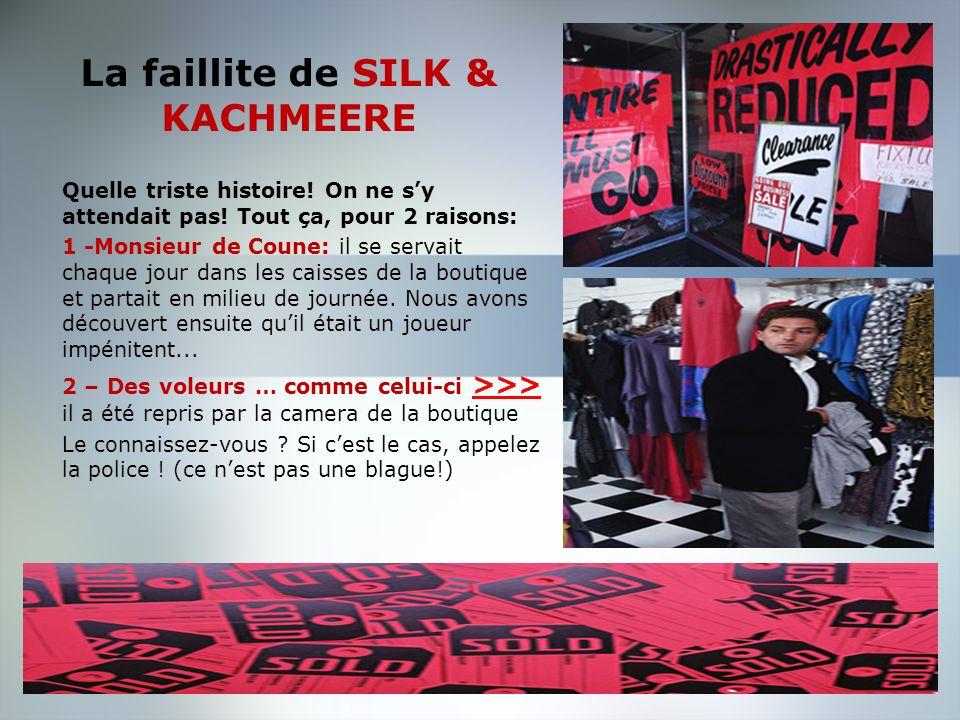 Expériences professionnelles SILK & KACHMEERE - Bruxelles Responsable - Gérante de magasin 2002-2003 Jai adoré ce job! Monsieur De Coune était un char