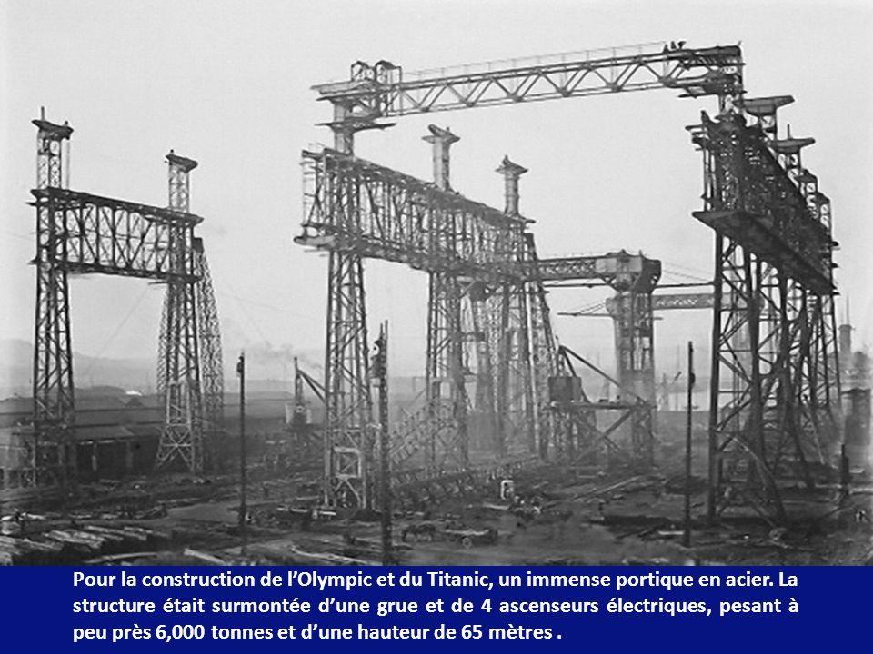 Le 31 Juilliet 1908 fut signé le contrat de construction aux chantiers navals de Belfast de lOlympic et du Titanic, puis du troisième bateau, le Britanica, un peu plus tard.
