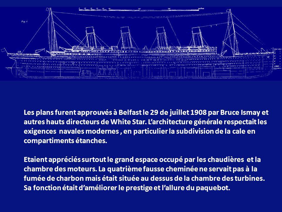 En 1907, lors dune réunion à la maison candienne de William J.Pririe, Bruce Ismay proposa la construction de deux grands navires (et un troisième plus tard) pour concurrencer les compétiteurs surtout par le luxe et la vitesse des navires car, cette année-là, la Cunard avait lancé les paquebots Lusitania et Mauritania.