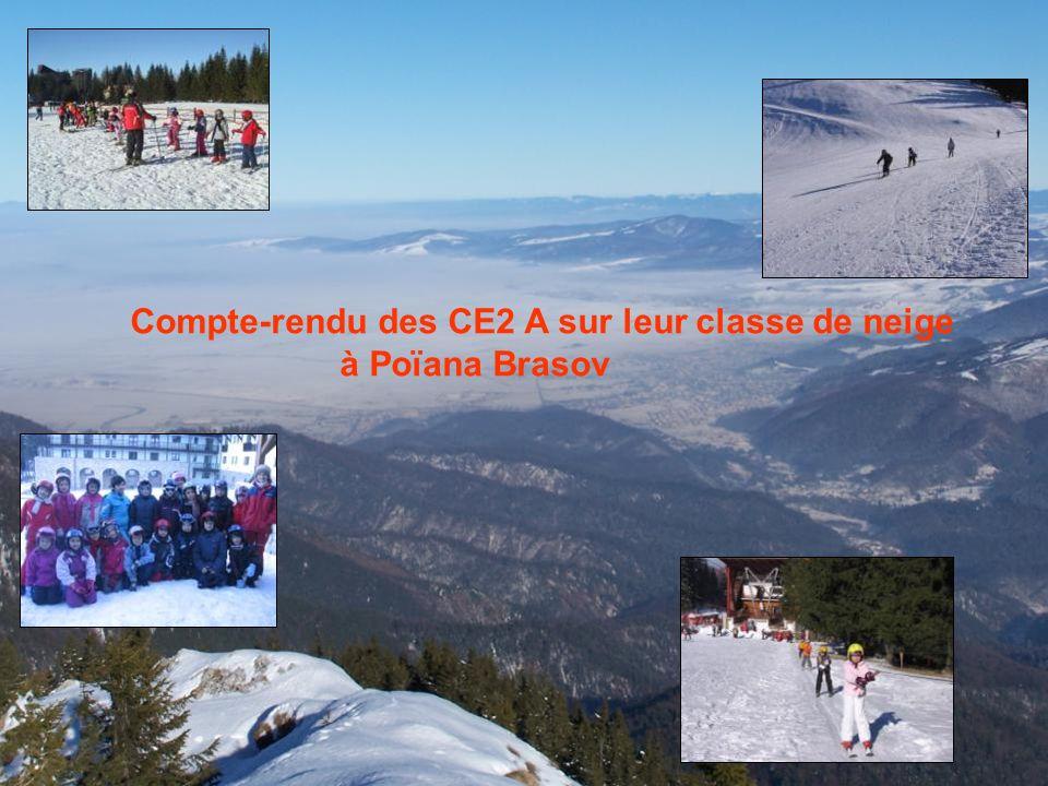 Compte-rendu des CE2 A sur leur classe de neige à Poïana Brasov