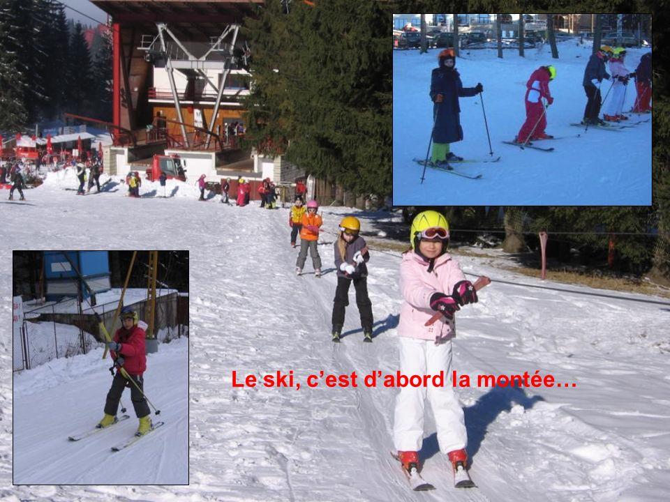 Cest super le ski, car on a fait du baby ski, du téléski… Léo …agréable… Mon meilleur souvenir, cest quand pour la première fois, jai fait du tire-fesses.