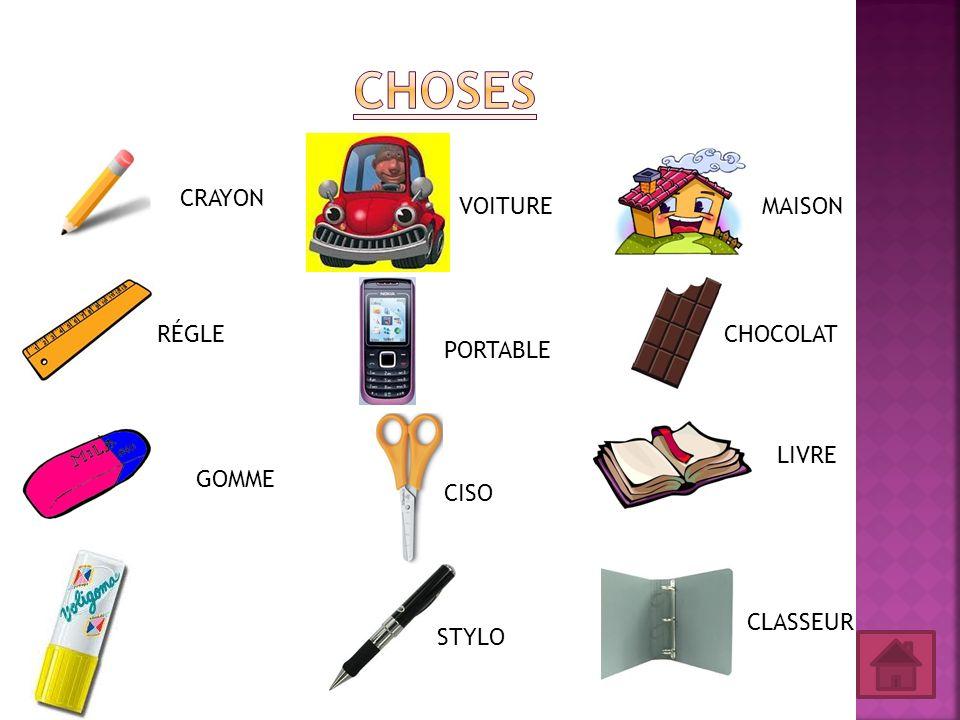 CRAYON CISO RÉGLE PORTABLE VOITURE GOMME STYLO CLASSEUR LIVRE CHOCOLAT MAISON