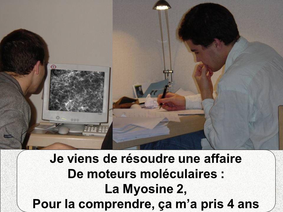 Je viens de résoudre une affaire De moteurs moléculaires : La Myosine 2, Pour la comprendre, ça ma pris 4 ans
