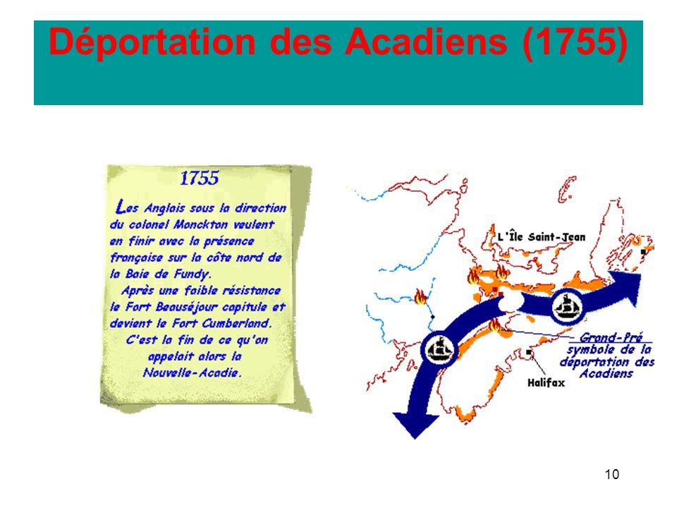 10 Déportation des Acadiens (1755)