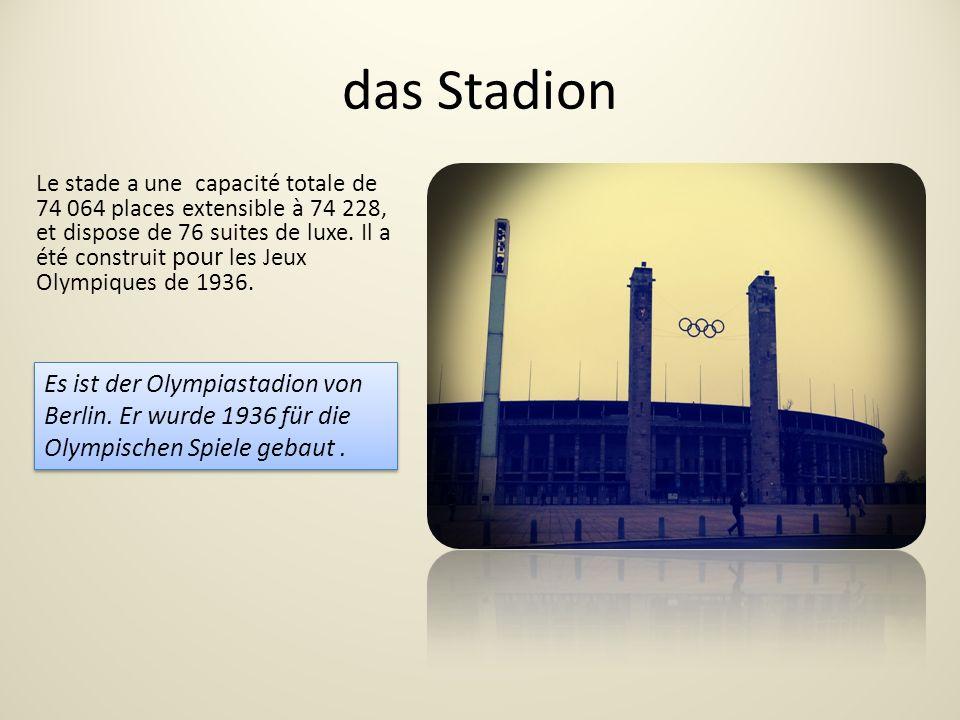 das Stadion Le stade a une capacité totale de 74 064 places extensible à 74 228, et dispose de 76 suites de luxe.