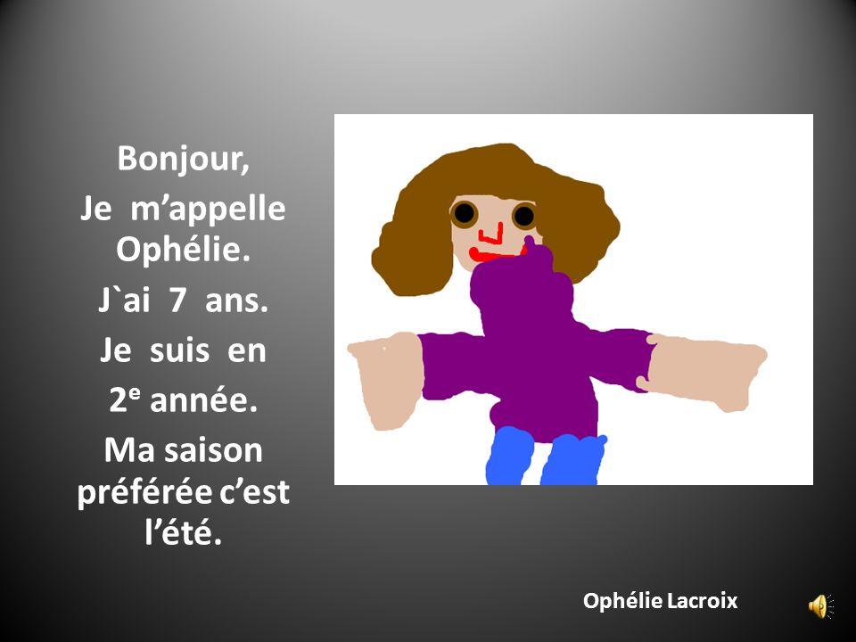 Noémie Gosselin Bonjour, Je mappelle Noémie. Jai 6 ans. Je suis en 1 re année.